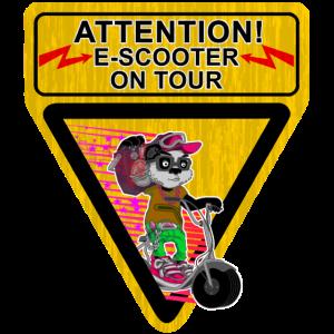 Escooter Electricscooter Panda Bär on Tour