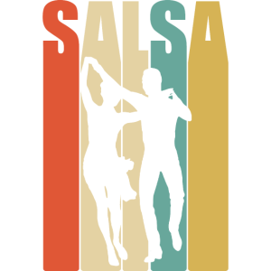 Salsa Tanz Retro bunt Cool Geschenk