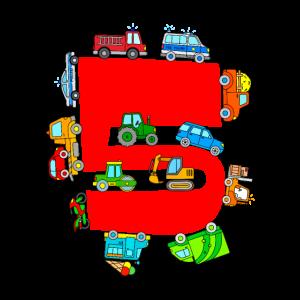 5. Geburtstag Fahrzeuge Polizei Feuerwehr Traktor