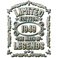 Geboren 1949 -70. Geburtstag Geschenk T-Shirt