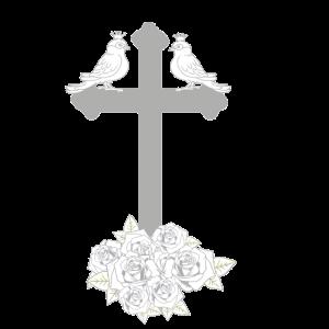 Dark Rosen Vogel Grufti Gothic Fantasy Kreuz cool
