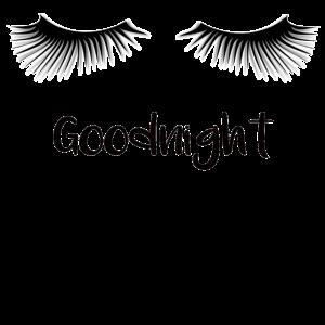 Goodnight Gute Nacht Schlaf gut Wimpern Geschenk