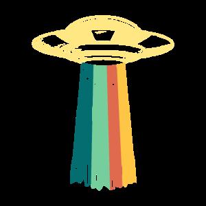 Ufo Alien Vintage Invasion Film Nerd Geek Geschenk