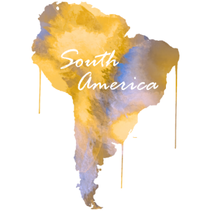 Suedamerika Amerika Kontinent Watercolor