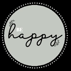 Be Happy • Geschenk • Mint • Happy • Spruch
