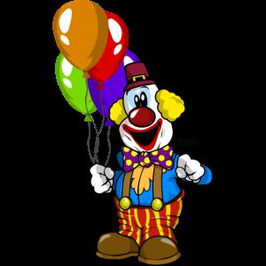Clown Luftballons Froehlich HARIZ Karneval Kostuem