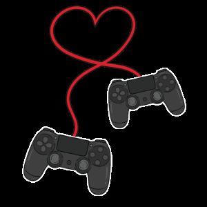 Gamer Gaming Controller Herz Valentinstaggeschenk