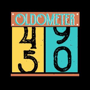 Oldometer 50th Birthday Counting Shirt