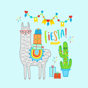 Llama Fiesta Alpaka Geschenk Geburtstag