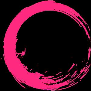 Kreis Design Bürste Pink Rosa Neu