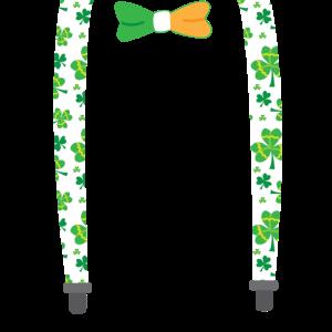 Shamrock-Zahnspange mit irischem Fliege St. Patricks Day