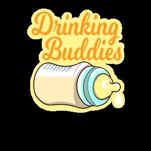 Drinking Buddies Baby Kind Fläschen Geschenk