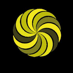 Goldener schnitt Wirbelmuster gelb