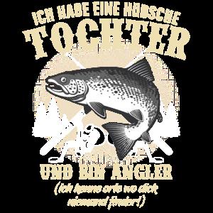 Angeln Angler Fischen Vater Spruch