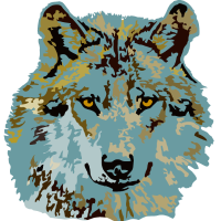 Wolf brauneblau n