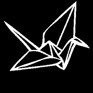 Weißer Vogel aus Papier gefaltet