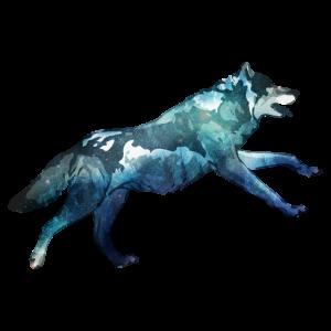 Doppelbelichtung Tiere Wolf Laufen - Geschenkidee