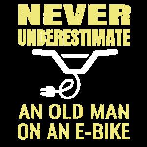 Mountainbike E-Bike Spruch MTB Pedelec Geschenk