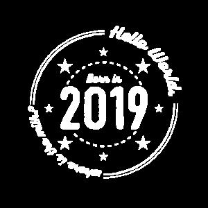 Born 2019 Circular retro design