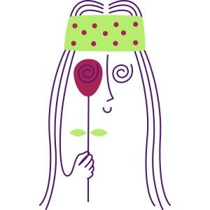Guiño con Rosa Hippie | Flower Power