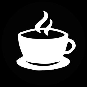Coffee mug white black
