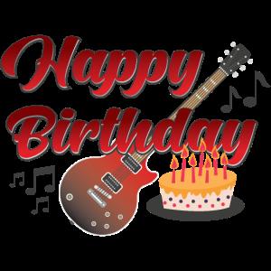 Geburtstag Geburtstagskuchen Gitarrist