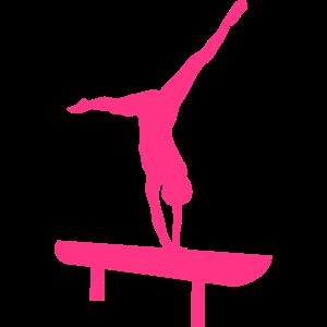 Strahl Gymnastik Silhouette 1