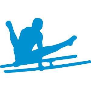 parallel bar Gymnastik Sport-Logo ein