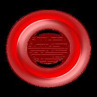 Rote Blubber Blase