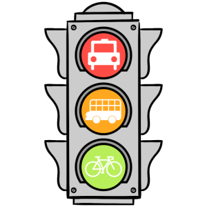 Fahrrad Ampel Nachhaltig Umwelt Geschenk Idee Grün