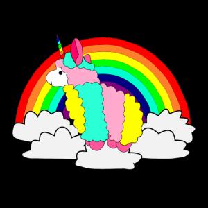 Einhorn Lama Regenbogen
