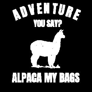 T-Shirt Adventure Alpaka My Bags Geschenkidee