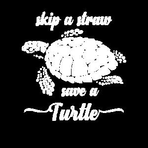 Skip Straw Save Turtle