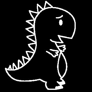 Ein Premium Dino T-Shirt