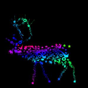 Hirsch mit Muster