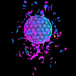 Aus dem Chaos erwacht die Blume des Lebens