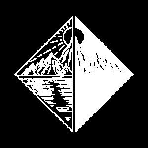 Dualität Schwarz Weiss – Natur, Berge, See