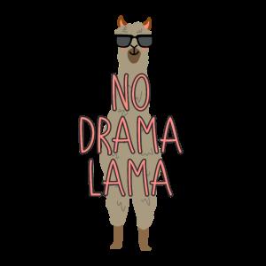 No Drama Lama Lama Lamas Sonnenbrille lustig cool