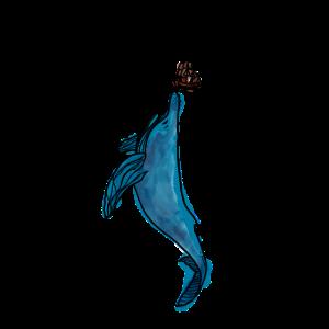 Unterwasserwelt kleines Boot gegen Wal Design