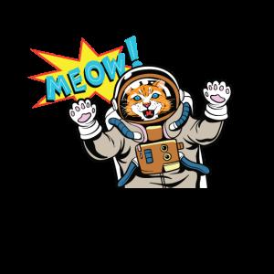 Die Süße Astronauten Katze Geschenk Haustier