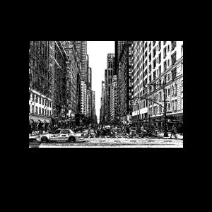 New York Big Apple Manhattan Broadway Straßenszene