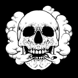 Rauchender Totenkopf Qualmender Schädel