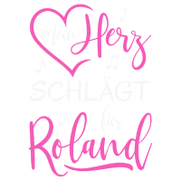 Mein Herz schlägt für Roland pink