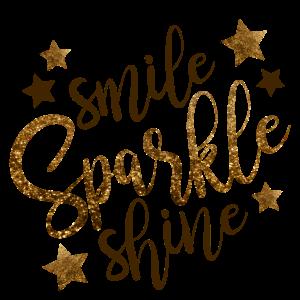 Lächel für glitzer und.... das Geschenk