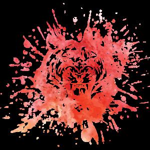 Tiger Splash Animalis Tintenfleck