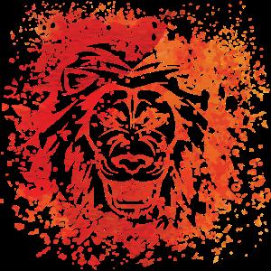 Löwe Splash Animalis Tintenfleck