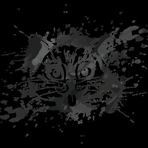 Katze tintenfleck kunst