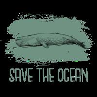 Wal Pottwal Buckelwal Rette den Ozean Geschenk