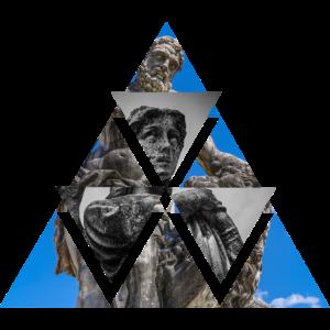 Dreieck Design Griechenland Statue Style Geschenk