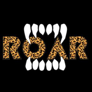 ROAR Leopard Print Wildtier Casual Design